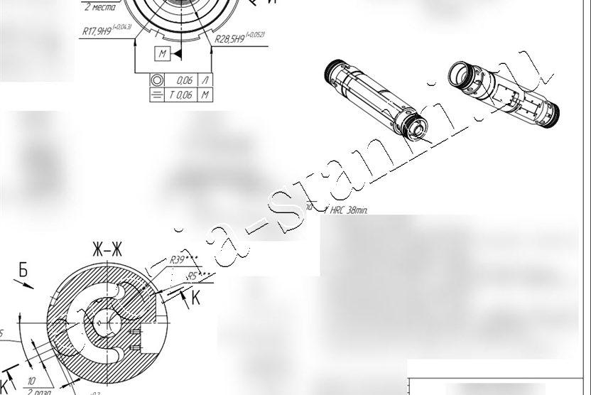 Конусное фасонное отверстие 400 мм. Тестовая обработка
