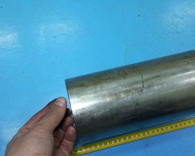 Отверстие в нержавейке ф 1х250 мм