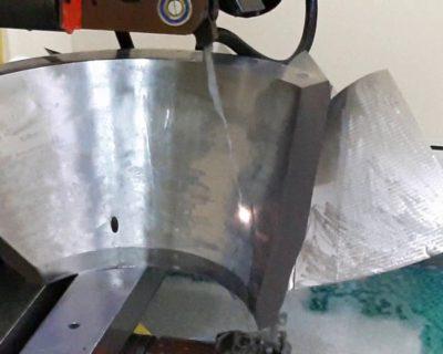 Вырезание лопатки для проведения испытания на прочность