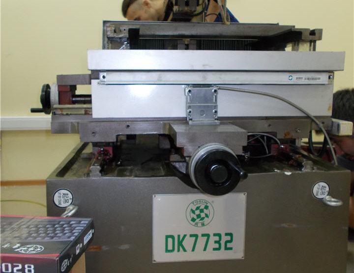 Станок DK 7732 проволочно-вырезной многопроходный. Август 2014
