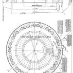 Тестовый паз для колеса диаметром 1090 мм. Толщина стали 190мм