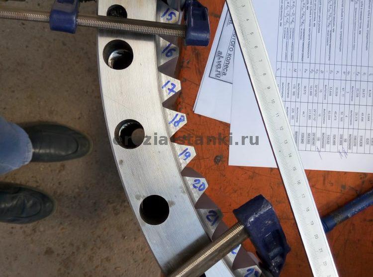 Зубчатый венец ф600 мм. Американский стандарт ANSI. Новосибирск. Видео